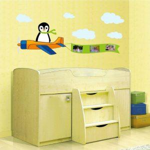 מדבקות קיר לחדרי ילדים – דגם פינגווין