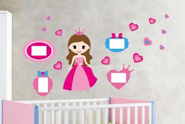 מדבקת קיר לחדר ילדים – דגם נסיכה