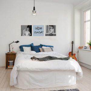 מדבקת קיר לחדר שינה – אהבה פי שלוש