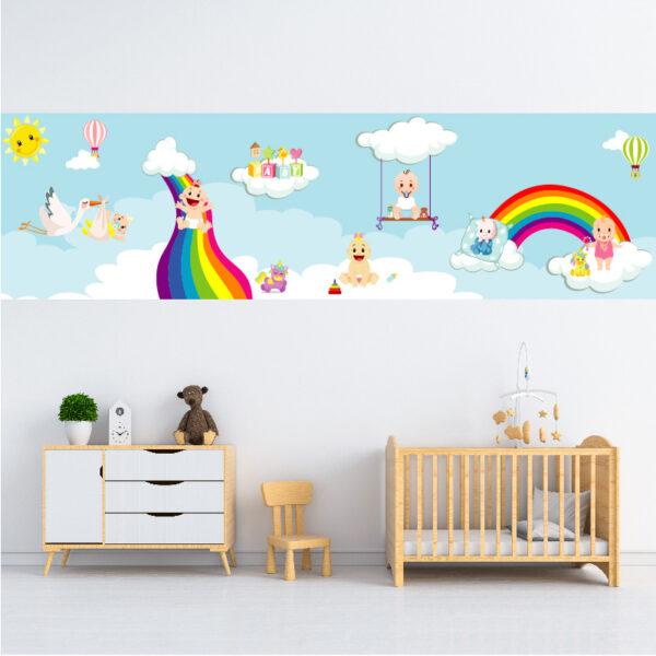 מדבקת קיר לעיצוב תינוקיה
